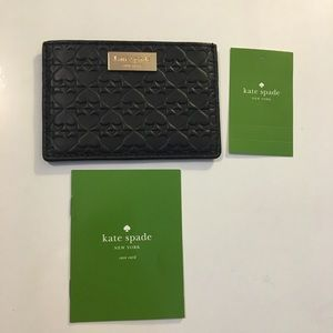 NWT Kate Spade Penn Place Embossed Card Holder